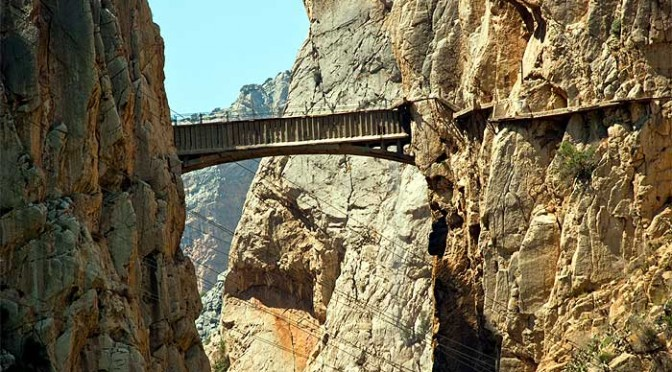 The first bridge on the caminito del rey