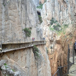 Old and new Caminito del Rey