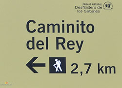 Sign to the Caminito start point