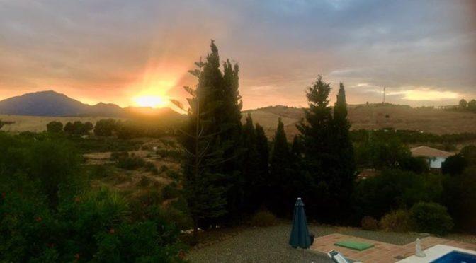 Beautiful sunset at Casa Sampo this evening.