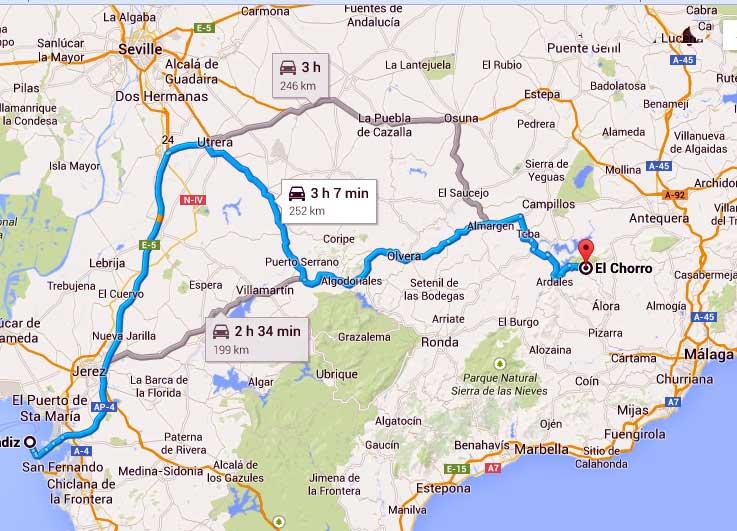 Map El Chorro
